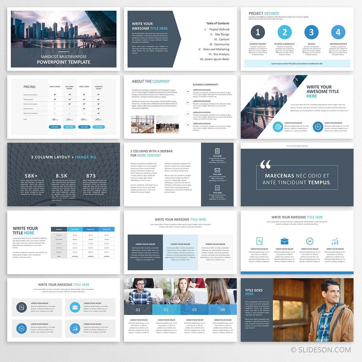 Sandicot Multipurpose PowerPoint Template