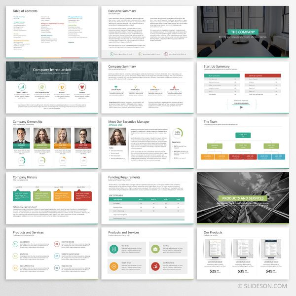 Business plan template for PowerPoint