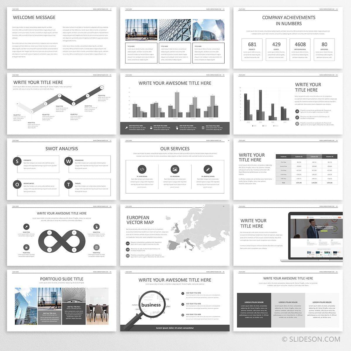 minimalist powerpoint template minimal powerpoint template slideson