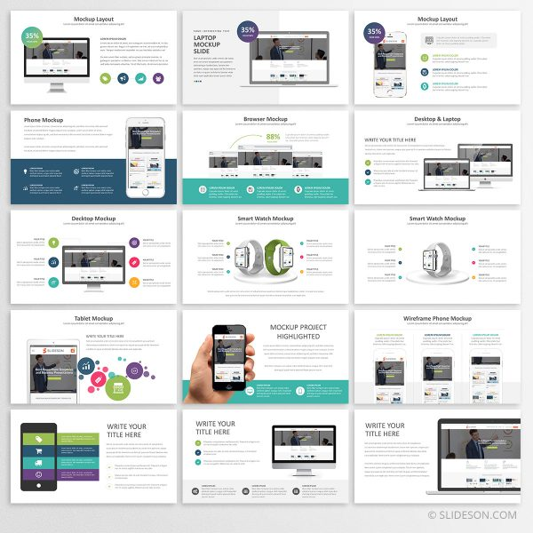 Device mockups for PowerPoint
