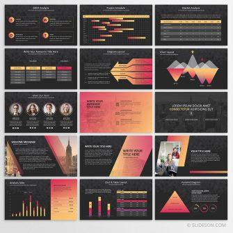 Duotone presentation template