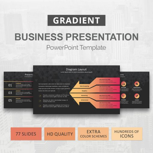 Duotone PowerPoint template