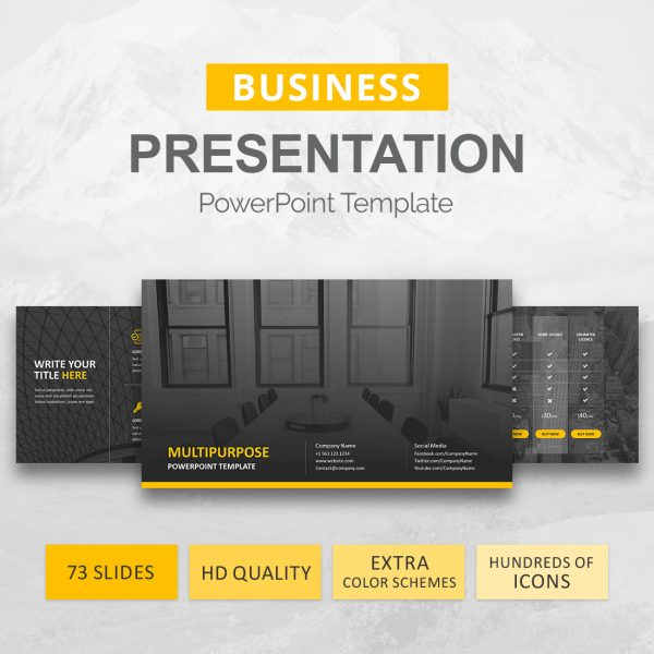 Business Powerpoint Template Business Presentation Slideson