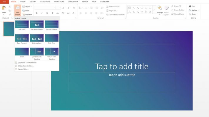 free gradient background powerpoint template