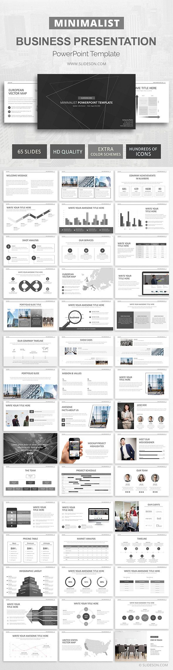 Minimal PowerPoint Template Design